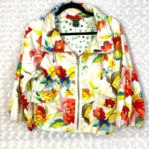 Monte Milano by Sylvia Oh Floral Zipper jacket